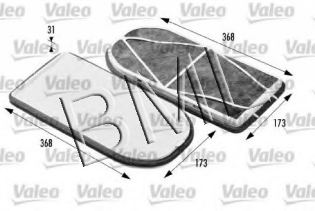 BMW SERIES 7 E38 CABIN AIR FILTER OE. PART- 64 31 9 069 926 / 698470VA