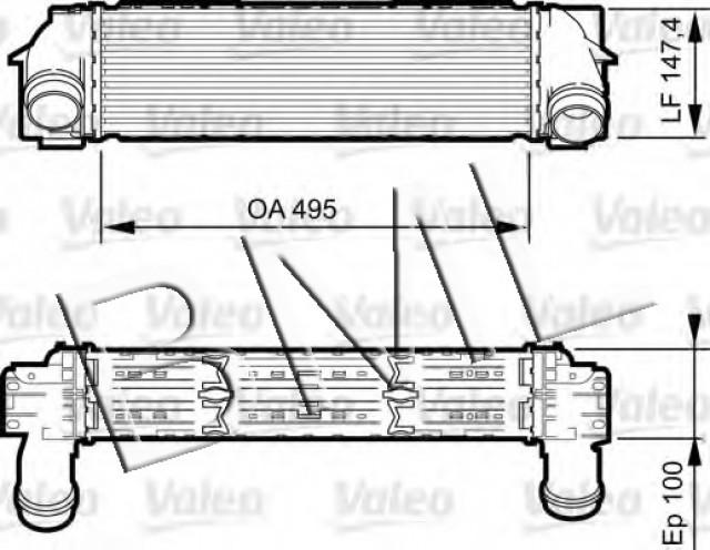 BMW SERIES X3 F25 2010 ON INTERCOOLER OE. PART- 17 51 7 593 845 / 818253VA