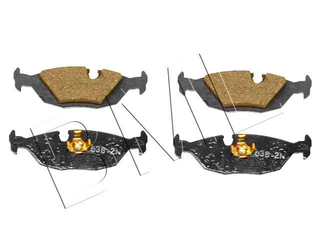 BMW SERIES 3 E30 1982 TO 1994 FRONT BRAKE PAD OE PART 34 21 1 157 925 / BBP0402FD