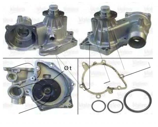 BMW SERIES 8 E31 1990 TO 1999 WATER PUMP OE. PART- 11 51 0 007 043 / 506631VA