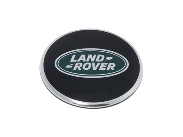 LAND RANGE-- WHEEL CENTRE CAP BRIGHT BLACK AND CHROME. PART - LR044717/ /LR069899GEN