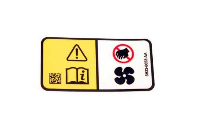 LAND ROVER - DECAL - RADIATOR FAN WARNING- GENUINE.PART- PAK500160