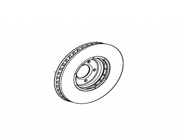 JAGUAR XK 2006 - 2014 FRONT DISC. PART- C2C25337 / 0986479754FD
