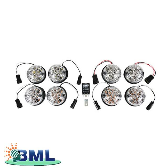 CLEAR LENS LED LIGHT KIT FOR DEFENDER 90/110 AND SERIES 3. PART GA1191