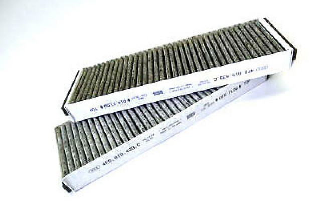 AUDI A6 2004-2011 INTERIOR VENTILATION AIR FILTER BO 2 x 4F0 898 438 C/0986628505FD